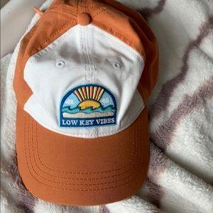 Orange hat, American eagle